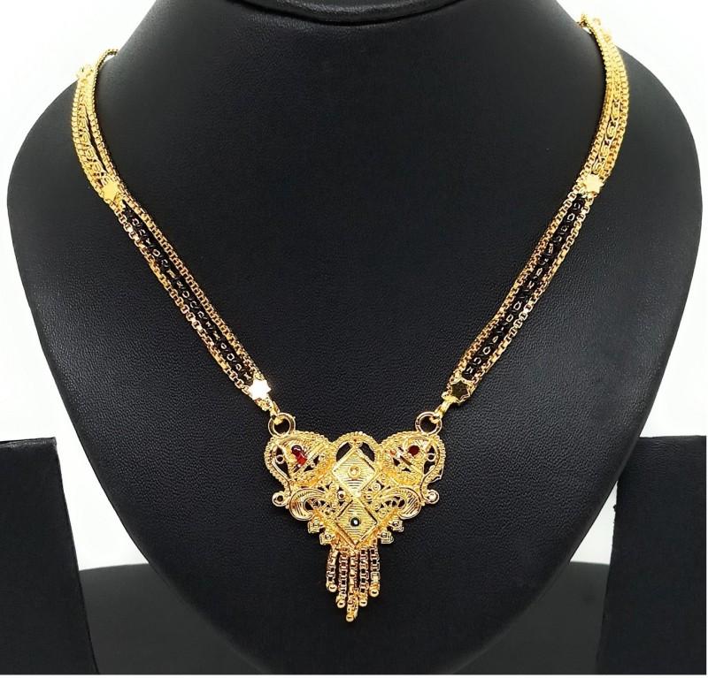 Jewelszone Jewelszone Mangalsutra Pendant with Chain 001 Alloy, Brass, Bronze, Metal, Copper Mangalsutra