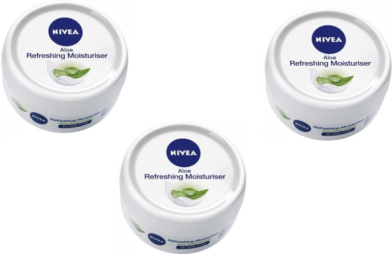 Nivea Aloe Body Cream Refreshing Moisturiser 50 ml pack of 3(150 ml)