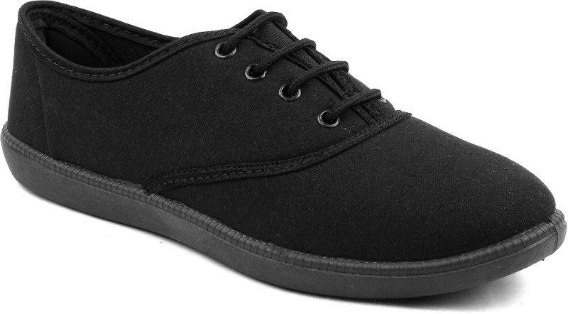 Fuel Womens Girl's Slip On Solid Walking Shoes For Women Casuals For Women(Black)