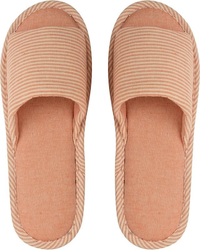 DRUNKEN Slipper For Women's Flip Flops House Slides Home Carpet Orange Sandals Slippers