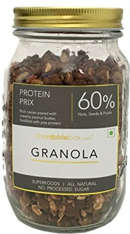 TheNibbleBox Protein Prix Breakfast Granola Jar 500g(500 g, Glass Bottle)