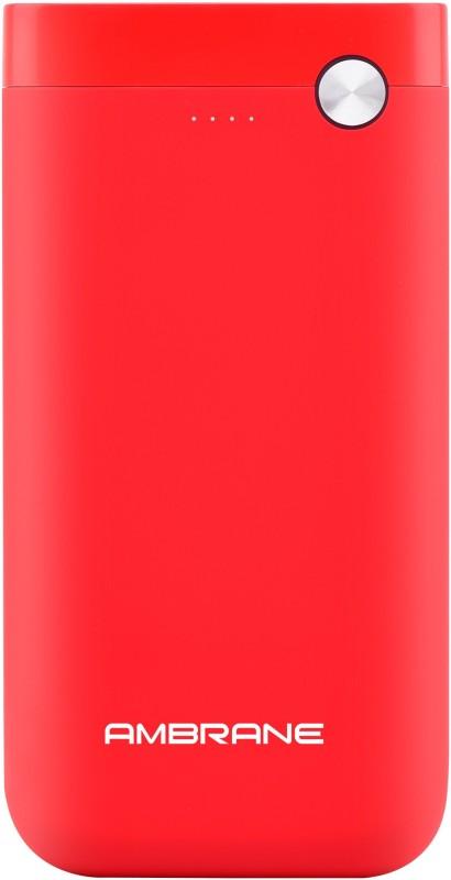 Ambrane 10000 mAh Power Bank (PP-11)(Red, Lithium Polymer)