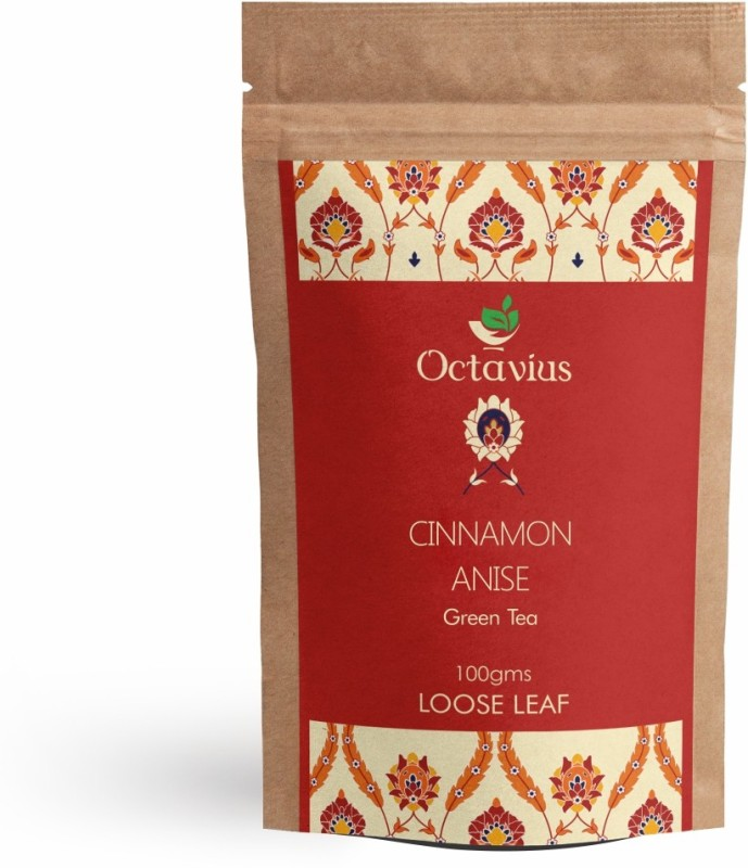 Octavius Cinnamon Anise Green Tea Loose Leaf- 100 Gms (40 Cups) Cinnamon Green Tea(100 g, Vacuum Pack)