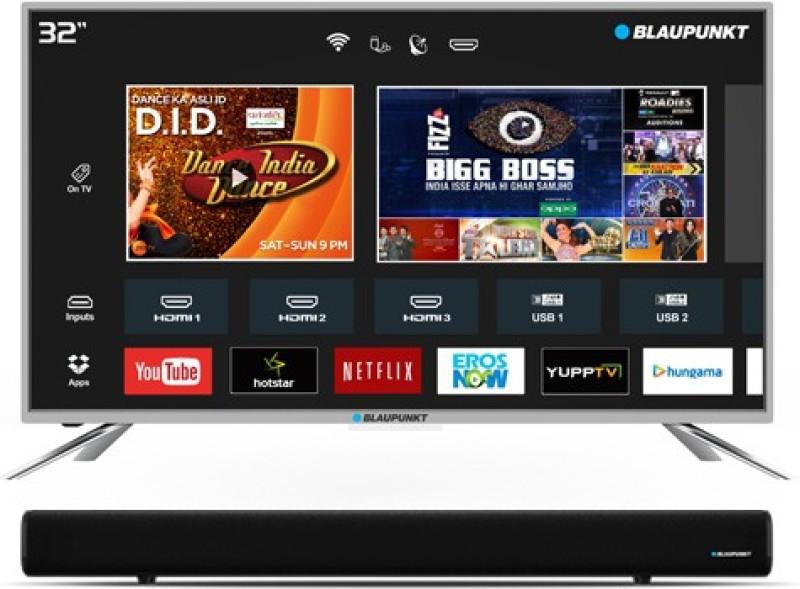 Blaupunkt 80cm (32 inch) HD Ready LED Smart TV with External Soundbar(BLA32AS460)