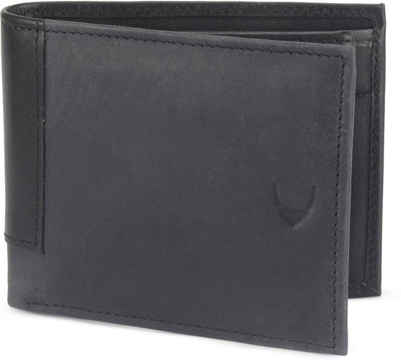 Hidesign Men Black, Blue Genuine Leather Wallet(4 Card Slots)