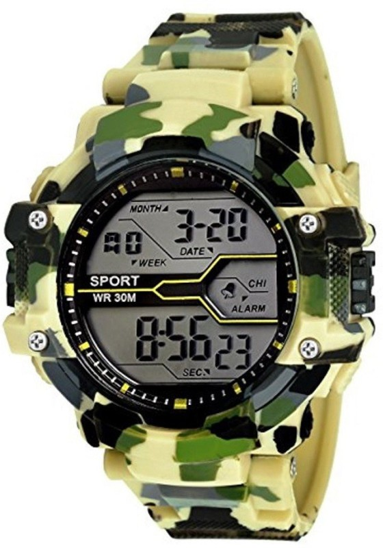 Emartos Army light Green Color Sports Army Light Green Digital Watch - For Men