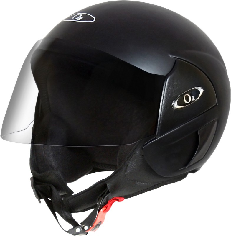 O2 PERL SERIES DELUX MATTE BLACK WITH TINED VISOR Motorbike Helmet(MATTE BLACK)