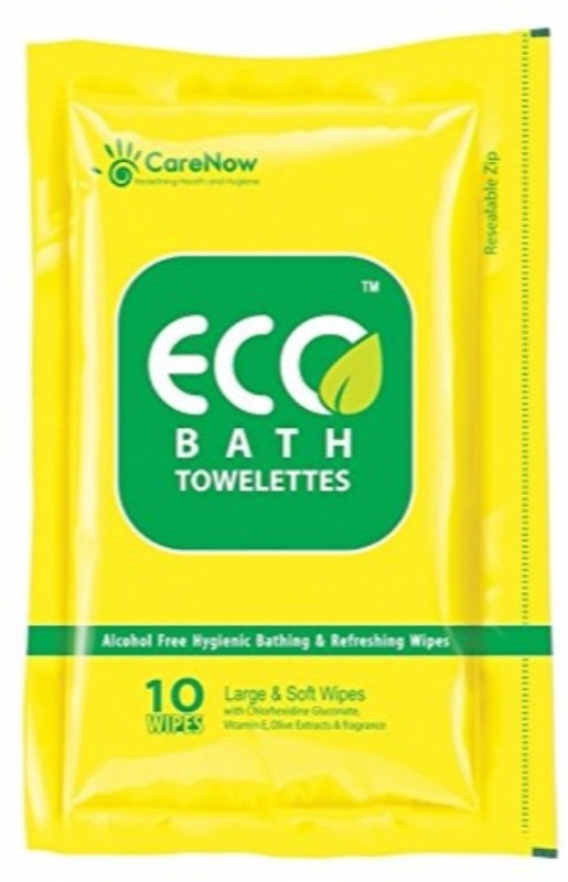 ECO Bath Bathing and Refreshing Wipes.(Large)Total 20 + 6 wipes = 26 wipes (2 Packs)(Pack of 26)