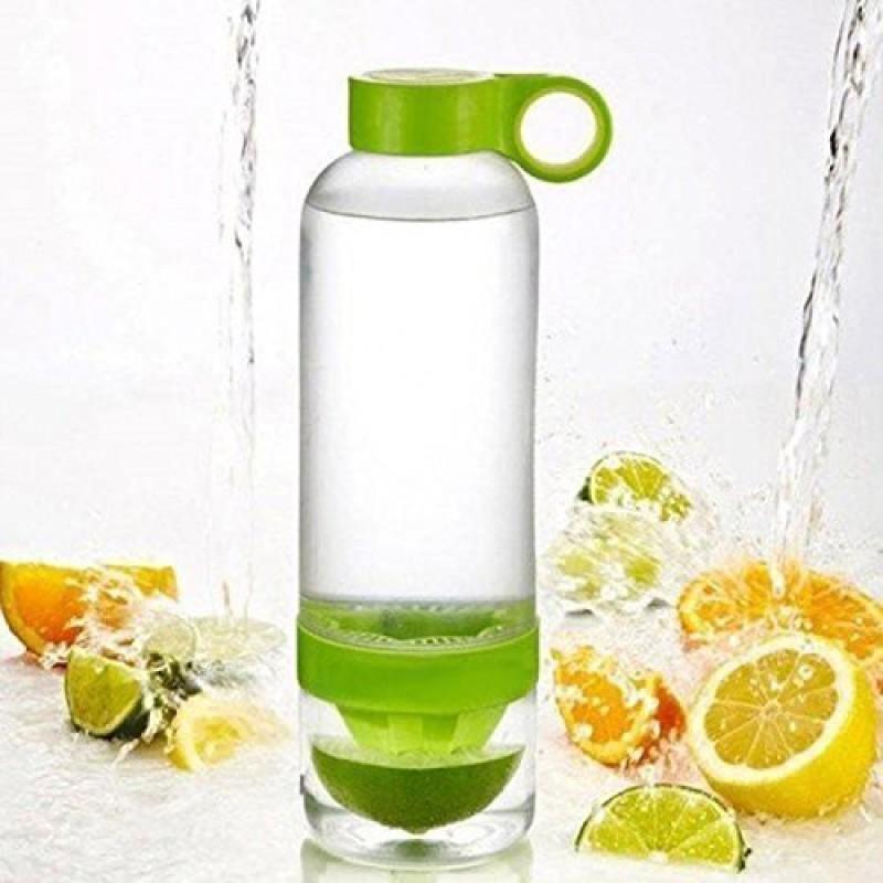 Alwick Citrus Zinger Lemon Fruit Infuser Juice Maker Water Drinking Fruit Cups Bottle Plastic Hand Juicer(Green Pack of 1)