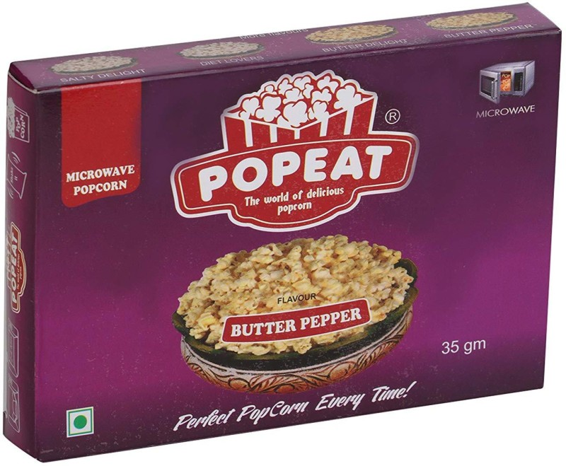 PopEat Butter Pepper Butter Pepper Popcorn(420 g, Pack of 12)