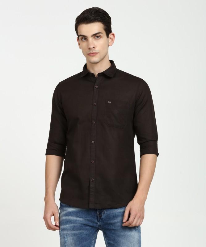 LAWMAN PG3 Men's Solid Casual Brown Shirt