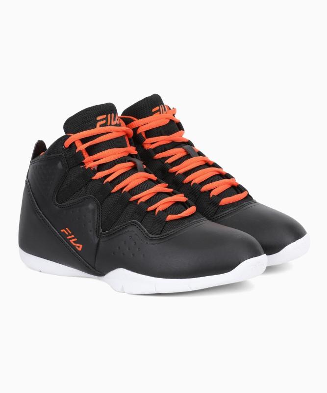 Fila POINTGUARD Basketball Shoes For Men(Black, Orange)