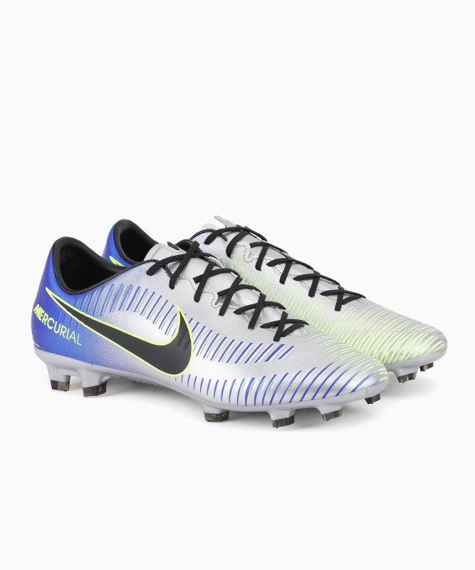 Nike MERCURIAL VELOCE III NJR FG Football Shoes For Men(Blue, Grey, Green)