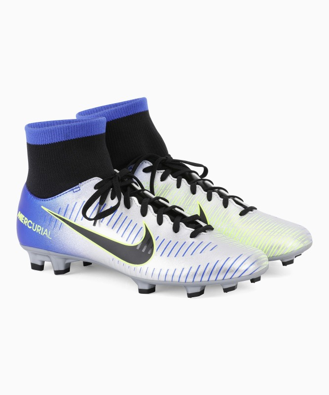Nike MERCURIAL VICTORY VI DF NJR FG Football Shoes For Men(Blue)