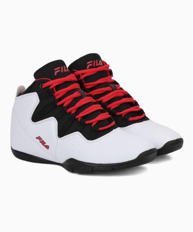 Fila POINTGUARD Basketball Shoes For Men(Black, White)