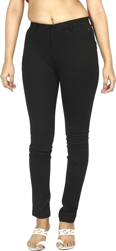 Fck-3 Skinny Fit Women Black Trousers