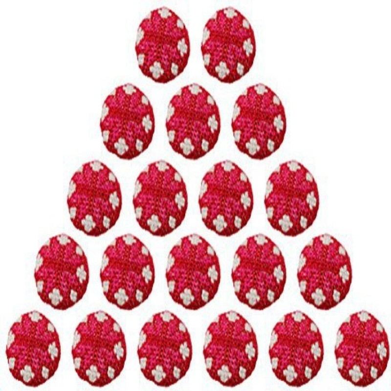 Fabric and Lace BT005g Metal, Fabric Buttons(Pack of 20)
