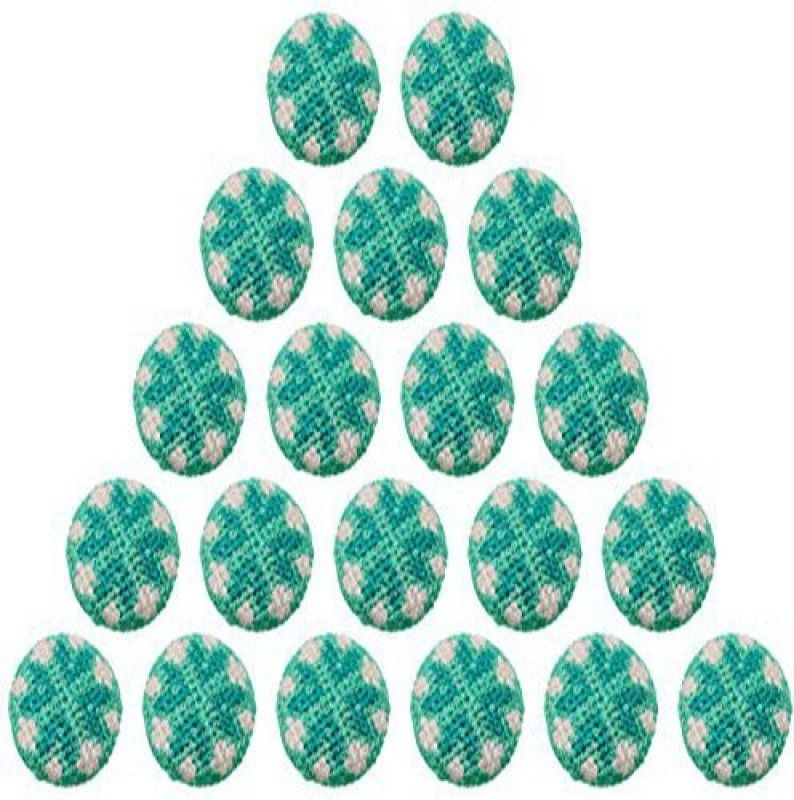 Fabric and Lace BT005e Metal, Fabric Buttons(Pack of 20)