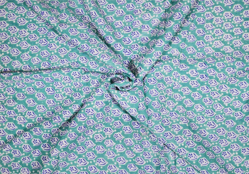 Rajcrafts 5-MTR_RHF_0132 Blue color Jaiprui Cotton Running Fabric 5 Meter Dress Making Fabric, Fabric, Running Fabric, Cotton Fabric, Dress Runnig fabric,Handmade Fabric , Hand block Fabric, Fabric By Meter, Cotton Fabric For men, Cotton fabric for woman