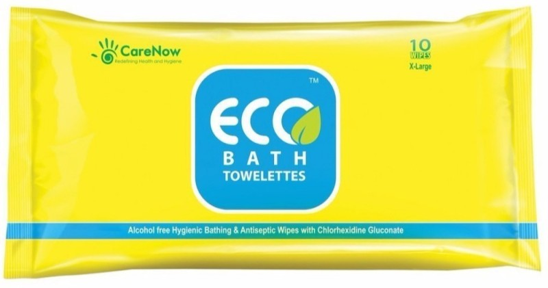 ECO Bath Bathing and Refreshing Wipes.(Extra Large)Total 20 + 6 wipes = 26 wipes (2 Packs)(Pack of 26)