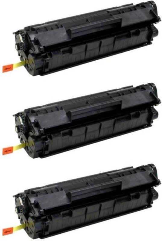 FUTUREZONE 12A Compatible For HP 12A / Q2612A Toner Cartridge For HP LaserJet 1010, 1010w, 1012, 1015, 1018, 1020, 1022, 1022n, 1022nw, M1005 MFP, M1319f MFP, 3015, 3020, 3030, 3050, 3050z, 3052, 3055 - Set of 3 Black Toner