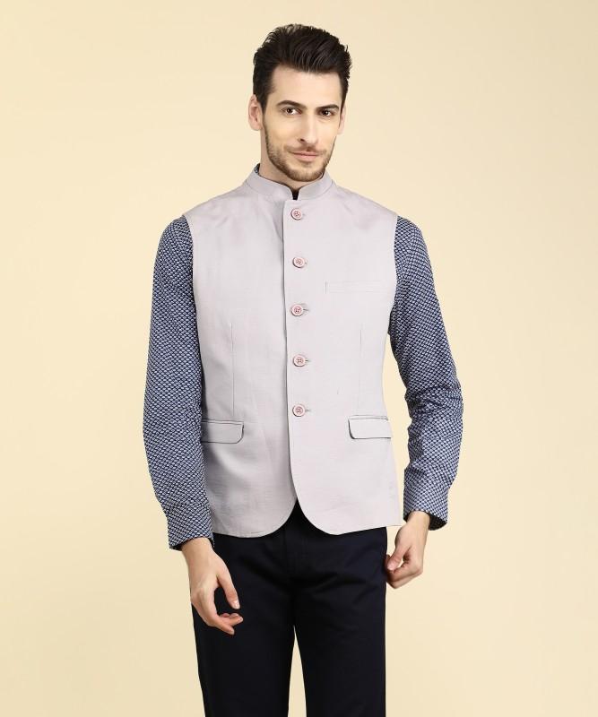 Van Heusen Sleeveless Solid Mens Nehru Jacket