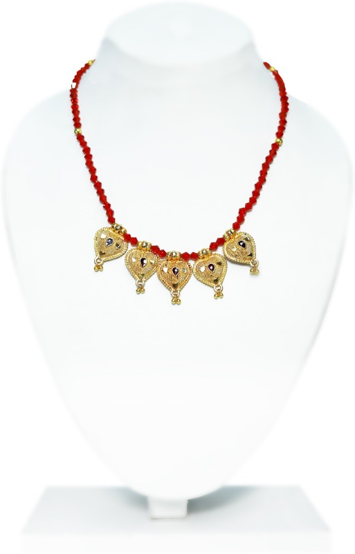 manomay jewellers Gold Plated Mangalsutra studded with Stones For Women Alloy, Zinc Mangalsutra