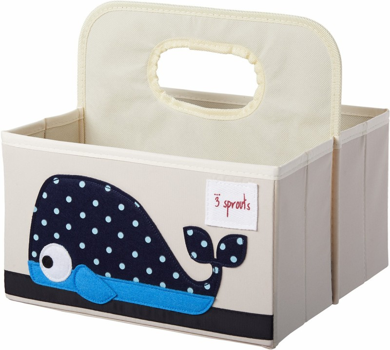 3 Sprouts Diaper Caddy-Whale Diaper Caddy(Multicolor)