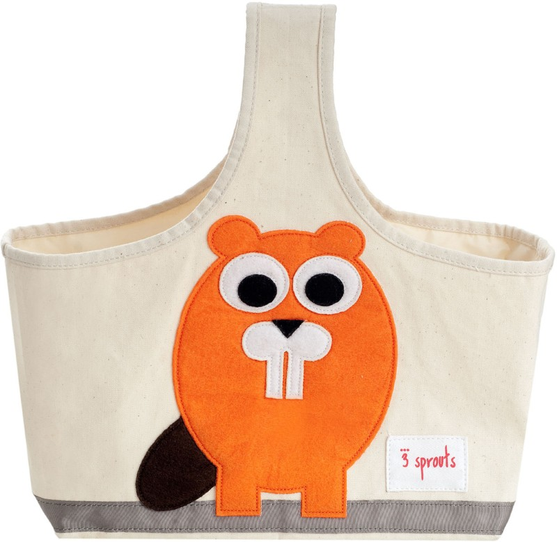 3 Sprouts Storage Caddy-Beaver Storage Caddy(Multicolor)