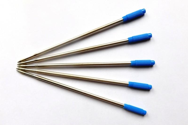 Swarnalekha Ballpoint Refill 5 Pcs. for Cross Ballpoint Pens, with Extra 1 Pcs. XPRES Pen, 12 cm Length, BLUE Refill(Pack of 5)
