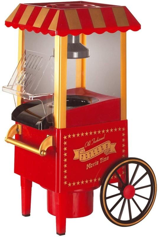divinezon Mini Plastic Countertop Retro Hot Air Popcorn Maker Machine(Random Colour, Standerd) 70 g Popcorn Maker(Red)