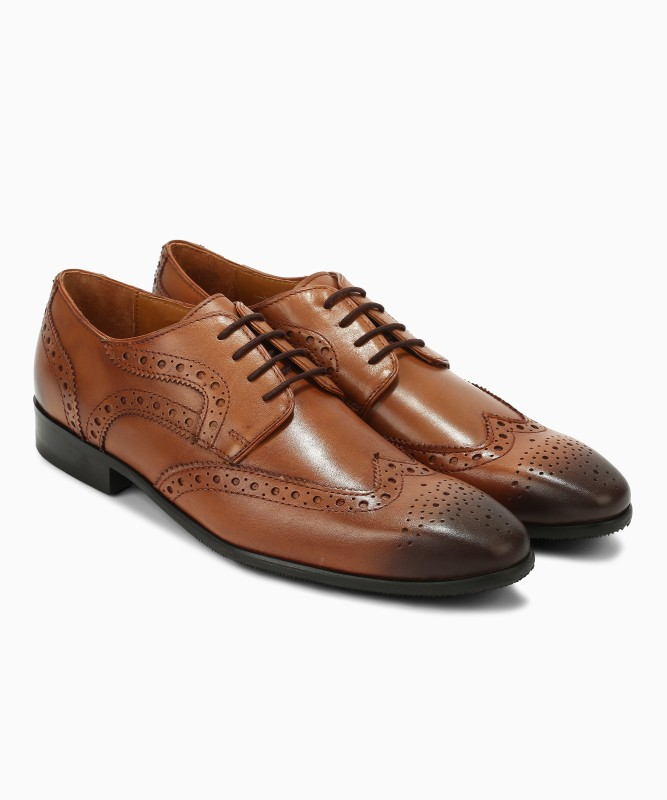 Van Heusen Brogues For Men(Tan)