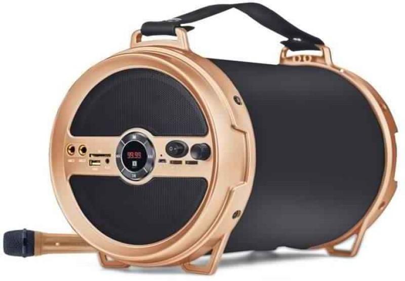 Iball Karaoke Barrel v2.0 Bluetooth Portable Speaker 15watts With Wireless MIC & Remote Built in FM Radio Bluetooth Home Theatre(Black, Mono Channel)