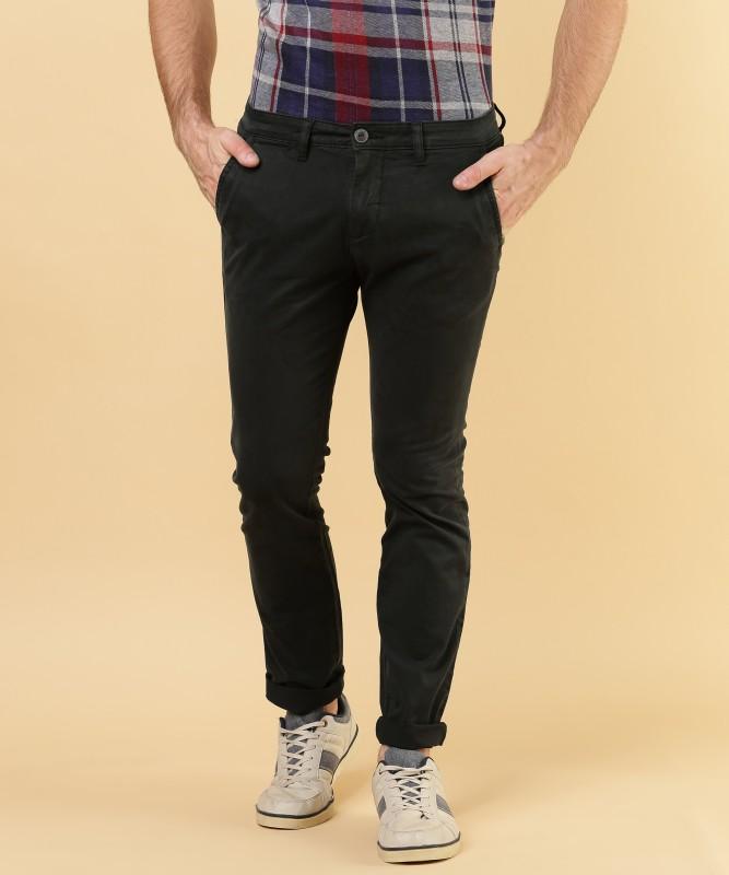 Pepe Jeans Regular Fit Mens Black Trousers