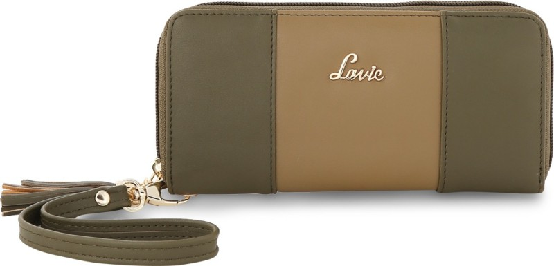 Lavie Women Green Artificial Leather Wallet(8 Card Slots)