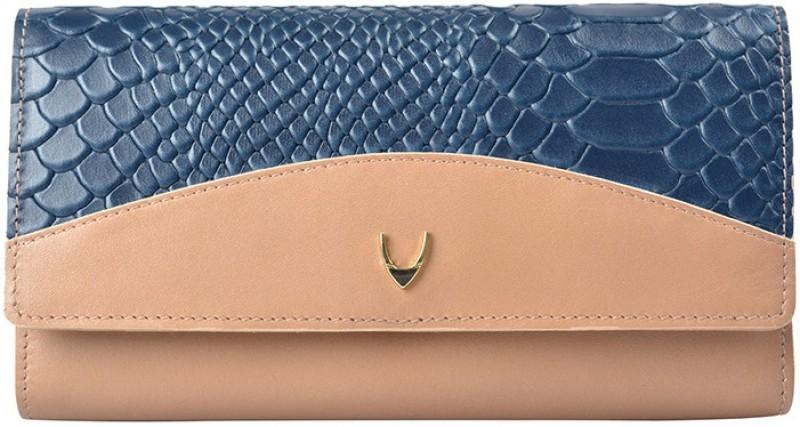 Hidesign Women Casual Brown, Blue Genuine Leather Wallet(11 Card Slots)