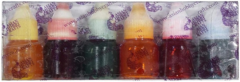 AsianHobbyCrafts Colour Pigment for Candle Making : 5 ml : (Pack of 6) Wax Color(5 ml)