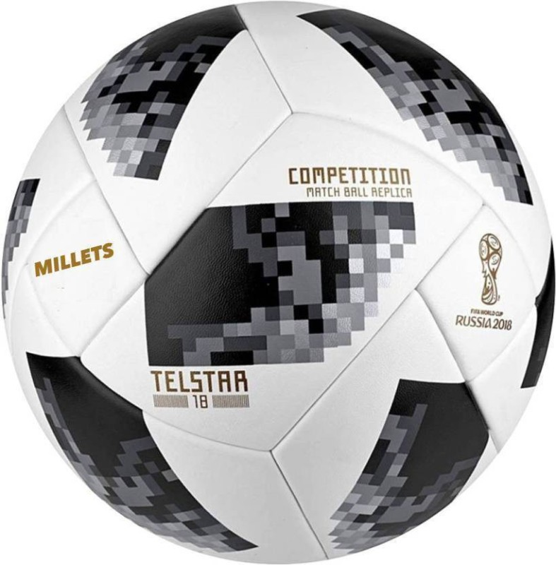 Millets Russia 2018 Red Telstar Football - Size: 5 Football - Size: 5(Pack of 1, White)
