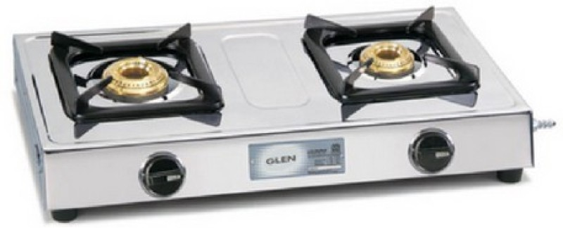 GLEN Glen LPG Stove 1020 SS BB- 2 BURNER Steel Manual Gas Stove(2 Burners)