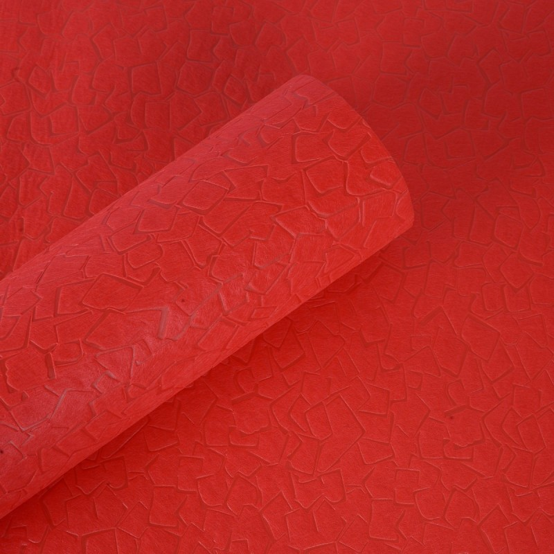 Paper Pep Square Box Designed Wrapping Paper, Size:LB(inch)- 23x23 NA Fiber Gift Wrapper(Red)