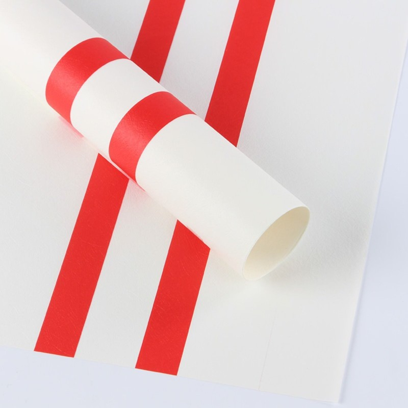 Paper Pep Big Lines Designed Wrapping Paper, Size:LB(inch)- 23x23 Print Fiber Gift Wrapper(White)