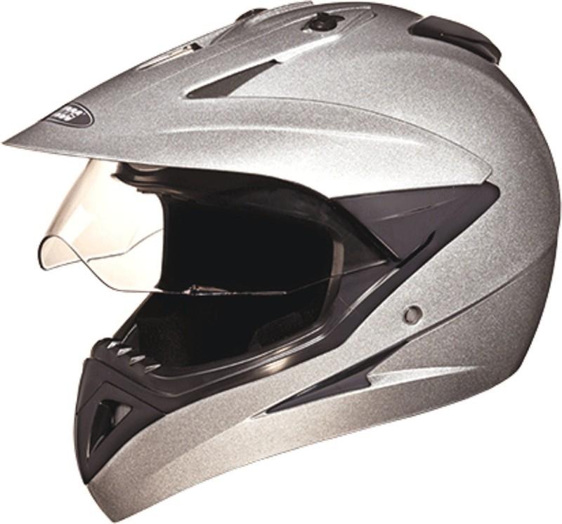 Studds MOTOCROSS(SILVERGREY) Motorbike Helmet(Grey)