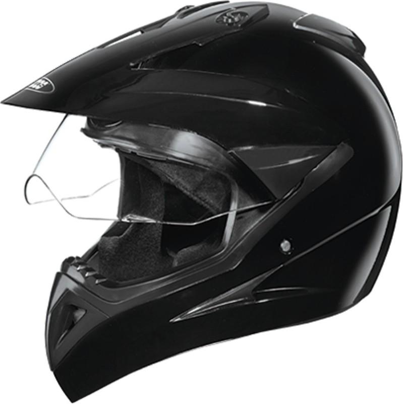 Studds MOTOCROSS(BLACK) Motorbike Helmet(Black)