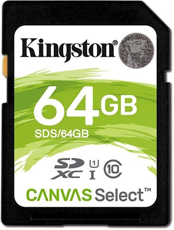 Kingston Canvas Select For Camera 64 GB SDXC UHS Class 1 80 MB/s Memory Card