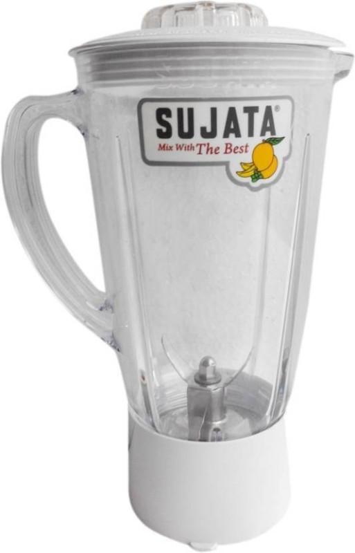 SUJATA 2 plastic doom attachment 900 W Mixer Grinder(White, 1 Jar)