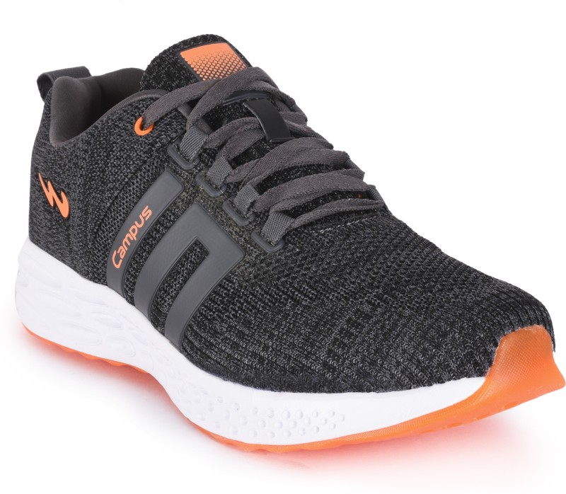 Campus NASA Running Shoes For Men(Black, Grey)
