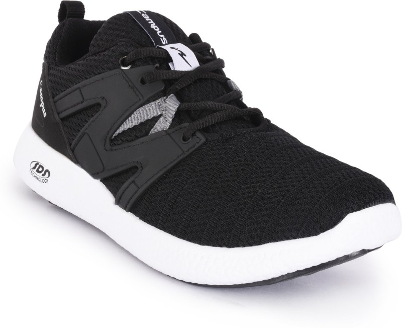 Campus ZINK-2 Running Shoes For Men(Black, Grey)