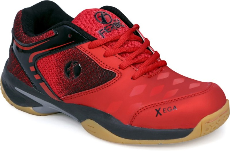 Feroc xega Red Badminton Shoes For Men(Red)