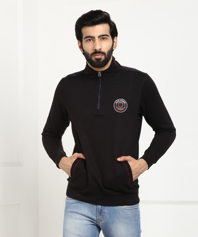 Numero Uno Full Sleeve Solid Mens Sweatshirt