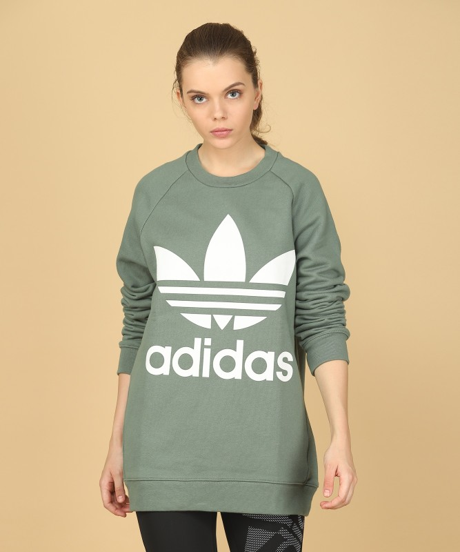 ADIDAS Full Sleeve Printed Womens Sweatshirt